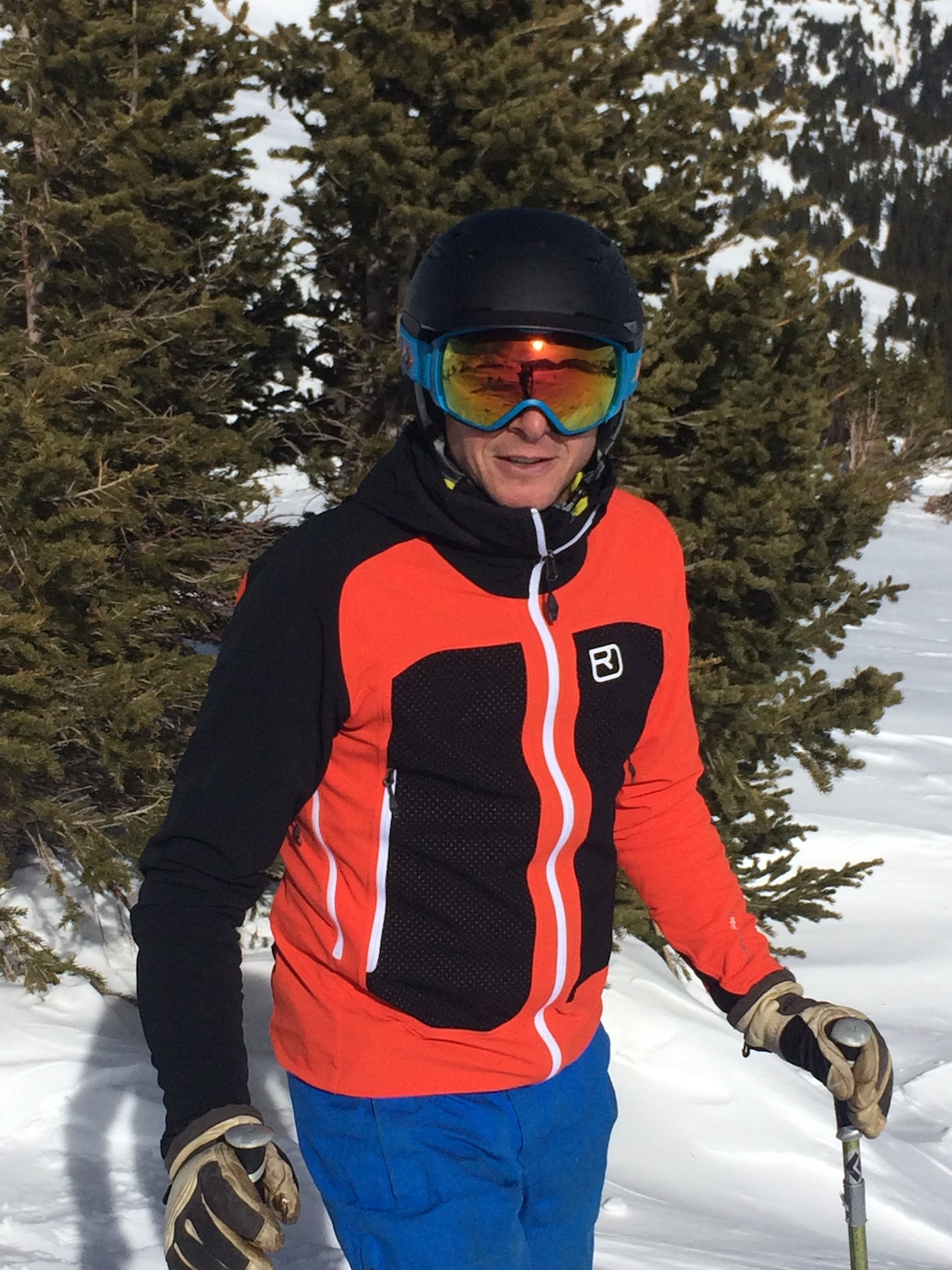 Mike Lewis wearing the Col Becchei while skiing in Colorado. [Photo] Chris Wood
