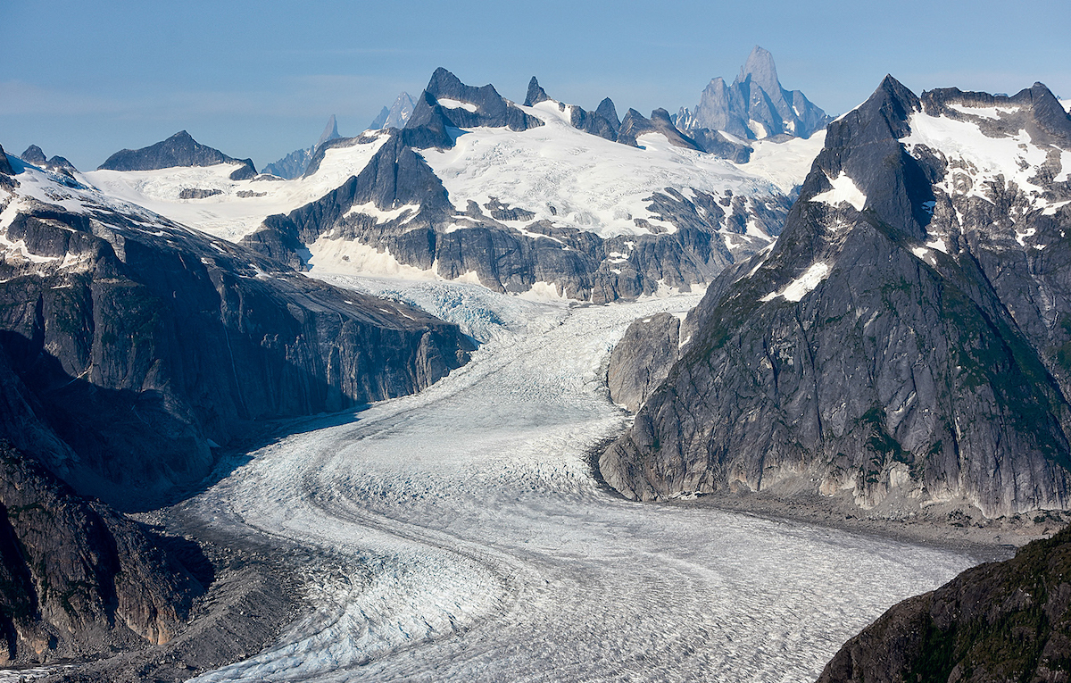 Patterson Glacier, below Devils Thumb. [Photo] Mike McMahon