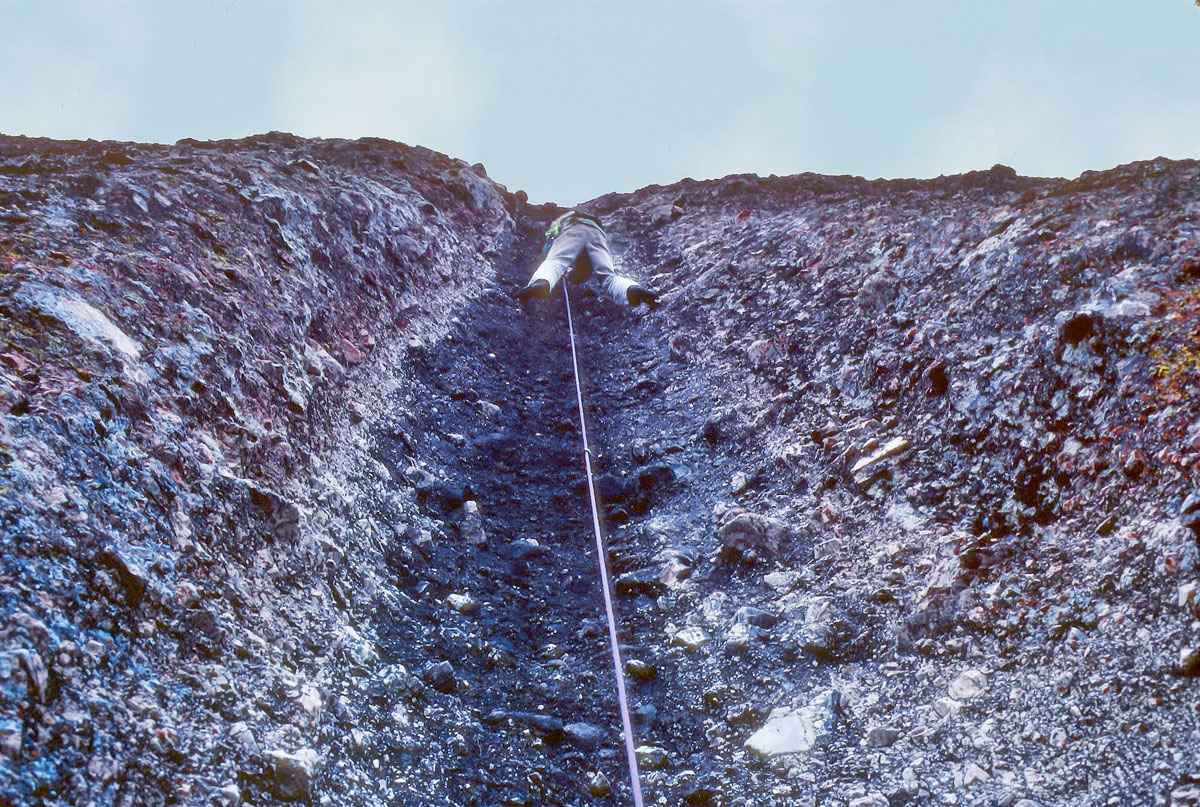 Bruce Cooke leading Pitch 3 on the third ascent of Shake and Bake. [Photo] Tom Higgins collection, Courtesy Friends of Pinnacles