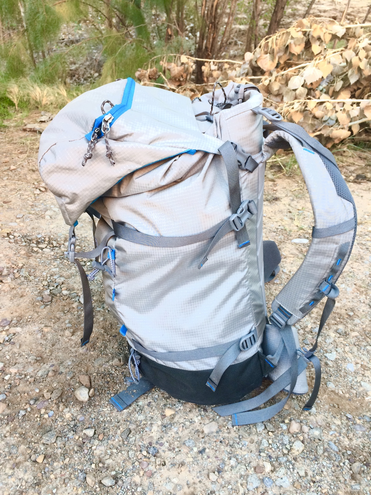 The lid of the Yeti 50L pack flops way over when the pack is not full. [Photo] Mike Lewis