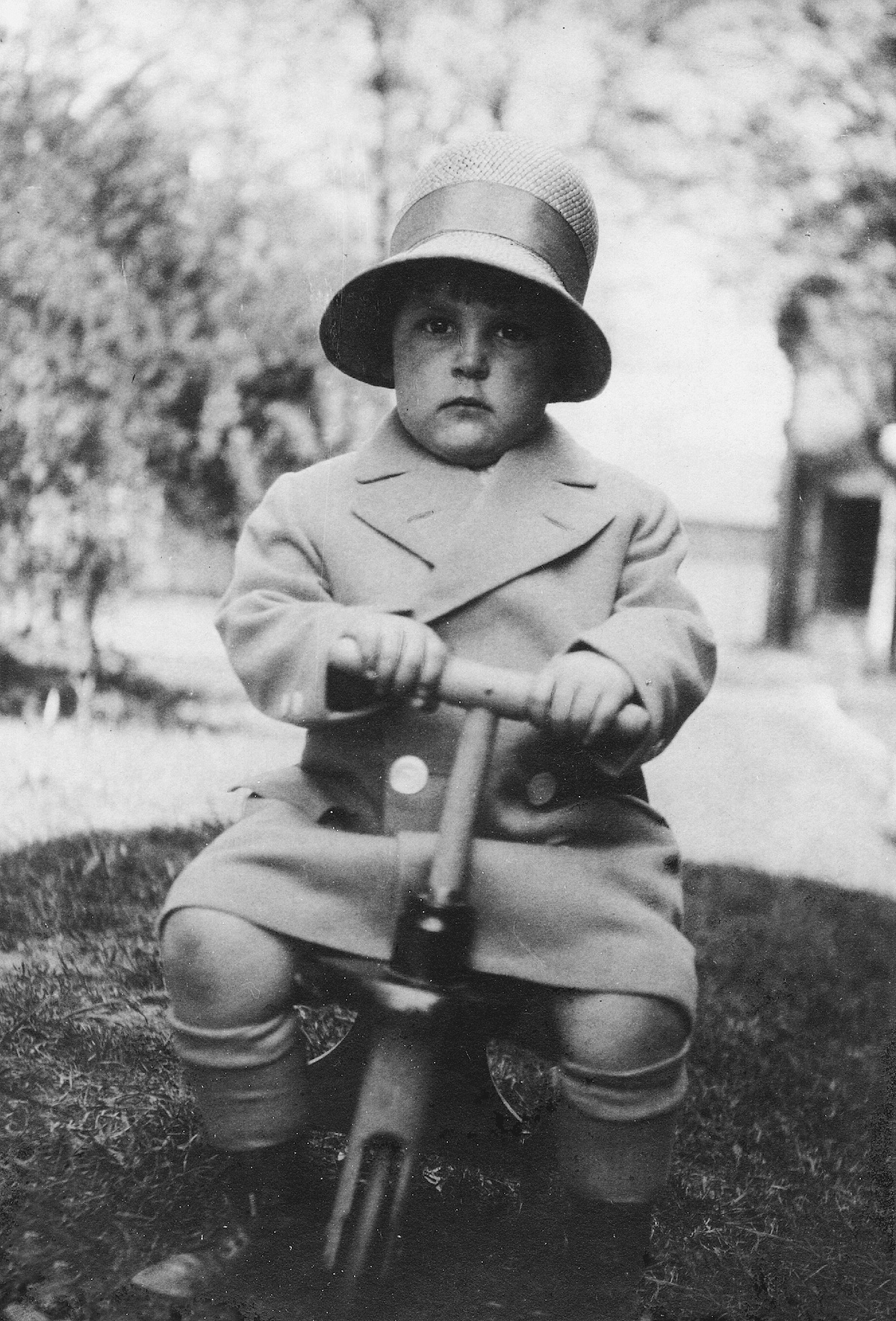 Hawley as a toddler. [Photo] Courtesy of the Michael and Meg Leonard collection