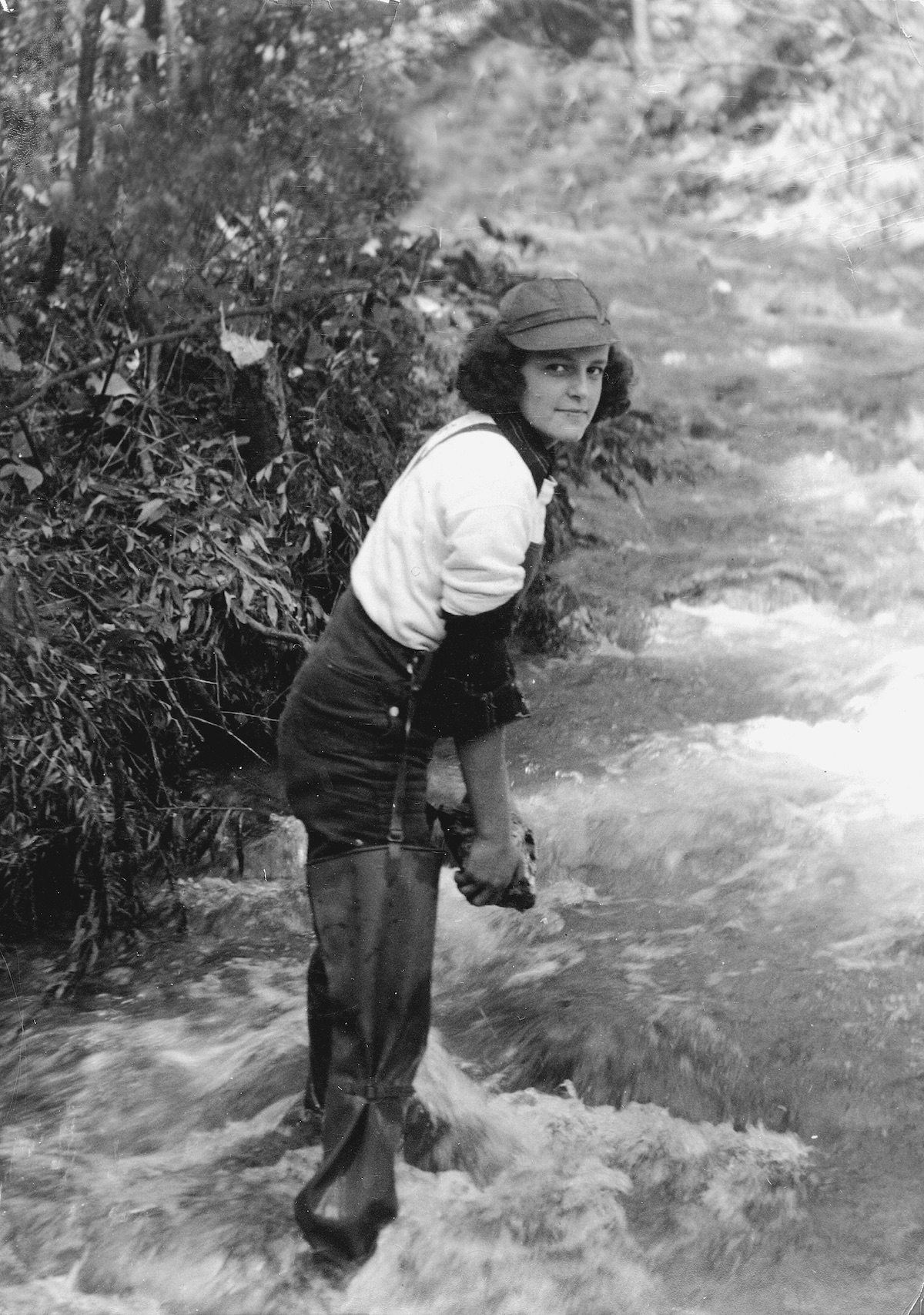 Hawley on her family's Vermont property. [Photo] Courtesy of the Michael and Meg Leonard collection