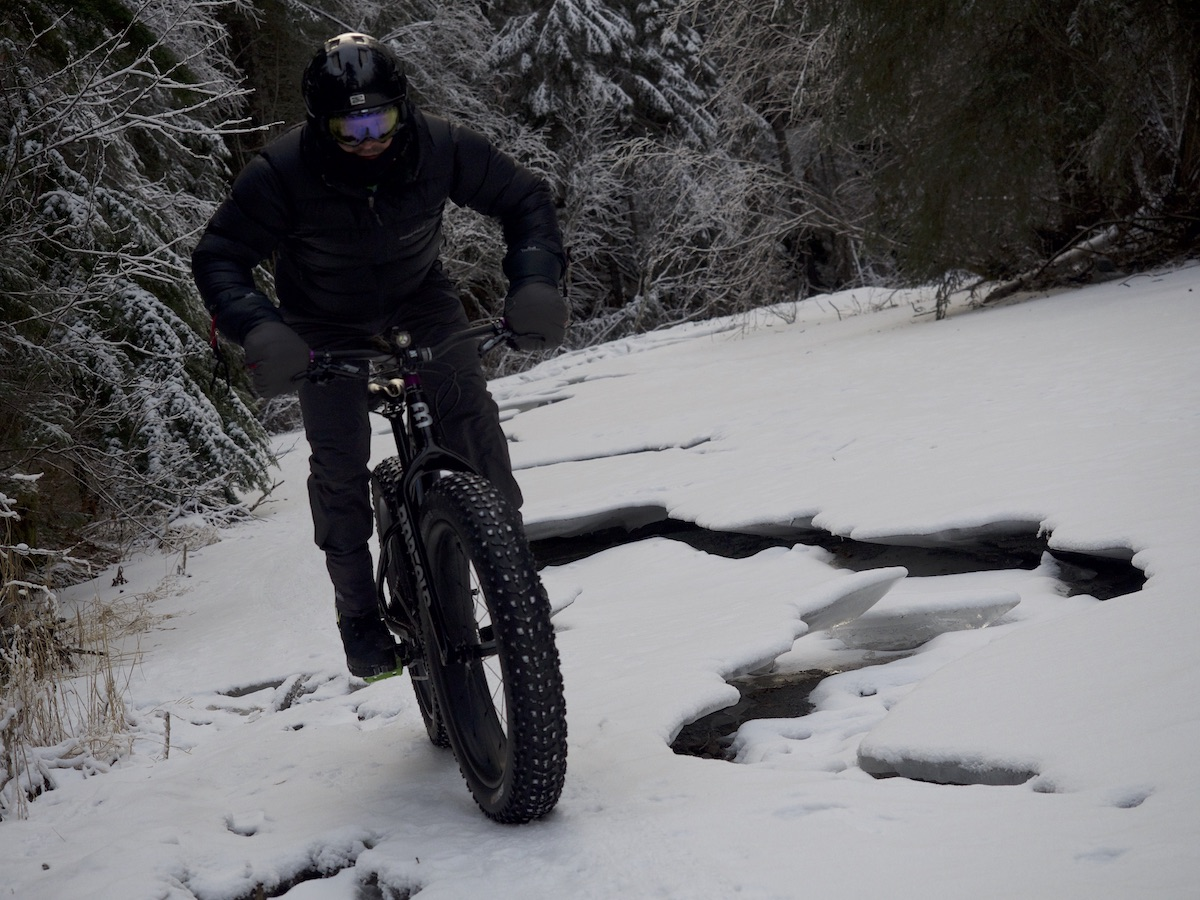 Matt Kandrick rides his fat bike on the Hillside Trails in Anchorage, Alaska. [Photo] Clint Helander