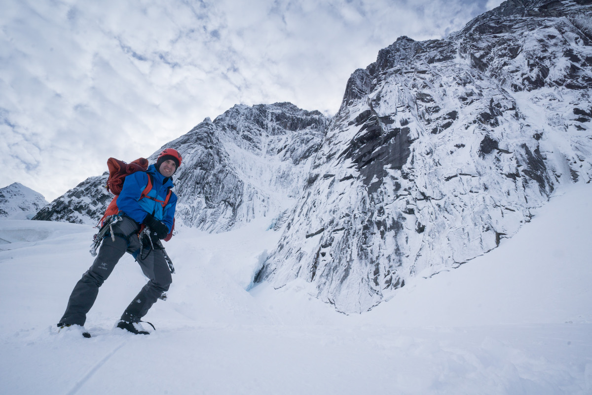 Johnson prepares to hike down the Mendenhall Glacier after descending from an attempt on the north face of the Main Mendenhall Tower in October 2015. Samuel Johnson, a friend and climbing partner or Ryan's, wrote, [Ryan] and Leclerc's final first ascent on the north face of Main Mendenhall Tower is just one of many outstanding accomplishments in his career as an alpine athlete. He was likely the best winter climber in Alaska's history, and undoubtedly one of the more talented alpinists in North America. His family, friends, and the climbing community lost a caring and driven human being and he will be dearly missed. [Photo] Clint Helander