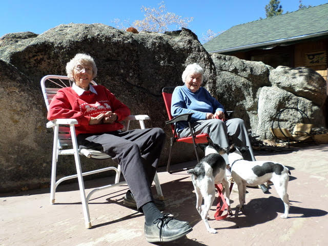 Helen Kilness, left, and Jean (Jene) Crenshaw, ca. 2014. [Photo] Katie Ives