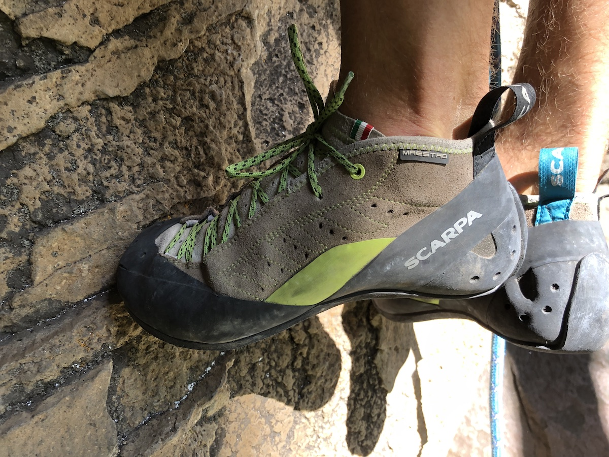 Edging in the Scarpa Maestro Mids. [Photo] Chris Kalman collection