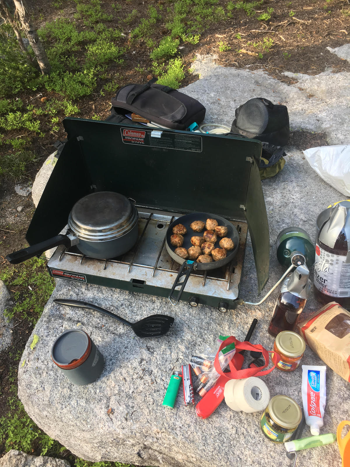 The Sea to Summit Alpha Pan was put to good use on a packhorse trip in the Wind River Range. The pot on the left is not the Alpha Pot. [Photo] Derek Franz
