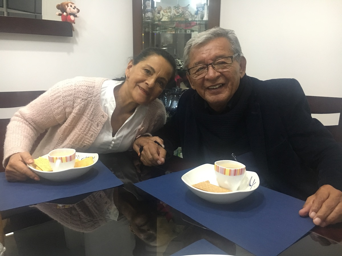 My father with his partner Maria Ines Barrera in January 2018, before they were married. [Photo] Ana Beatriz Cholo collection