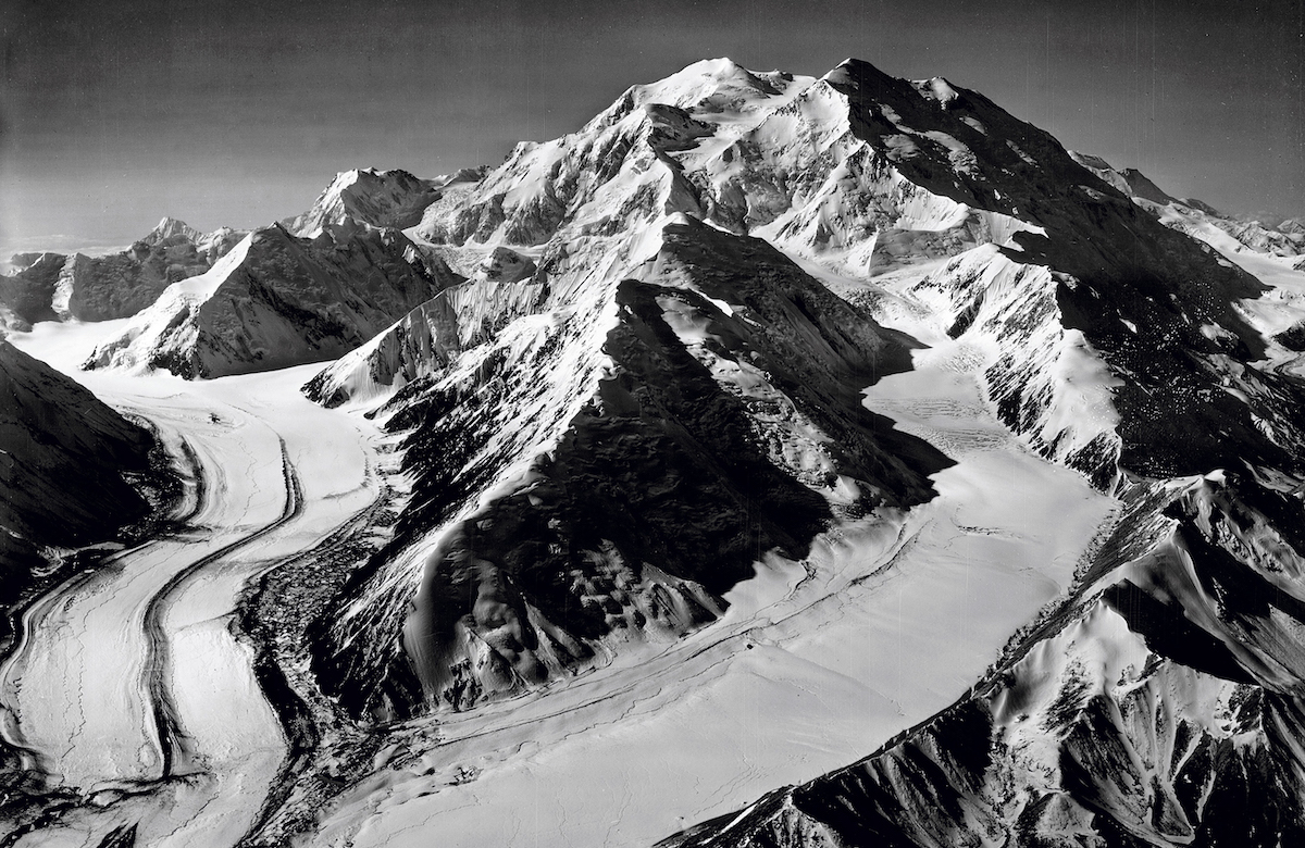 Denali (20,310') in the Alaska Range. [Photo] Bradford Washburn Collection, Museum of Science