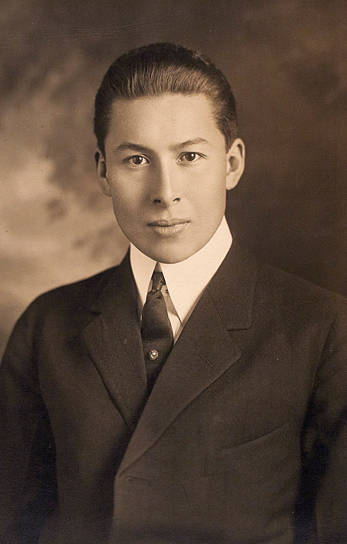 A portrait of Walter Harper (1892-1918) at the Mount Hermon School. [Photo] Yvonne Mozee Collection, University of Alaska, Fairbanks.