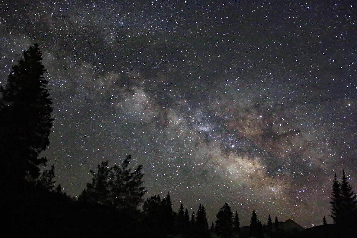 The Milky Way as seen from the meadow at Rocky Mountain Biological Laboratory. [Photo] Jimmy Lee