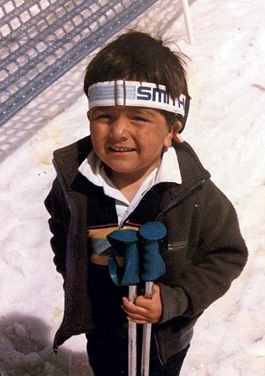 Lonnie Kauk, age three or four, at Badger Pass Ski Area. [Photo] Lonnie Kauk Collection