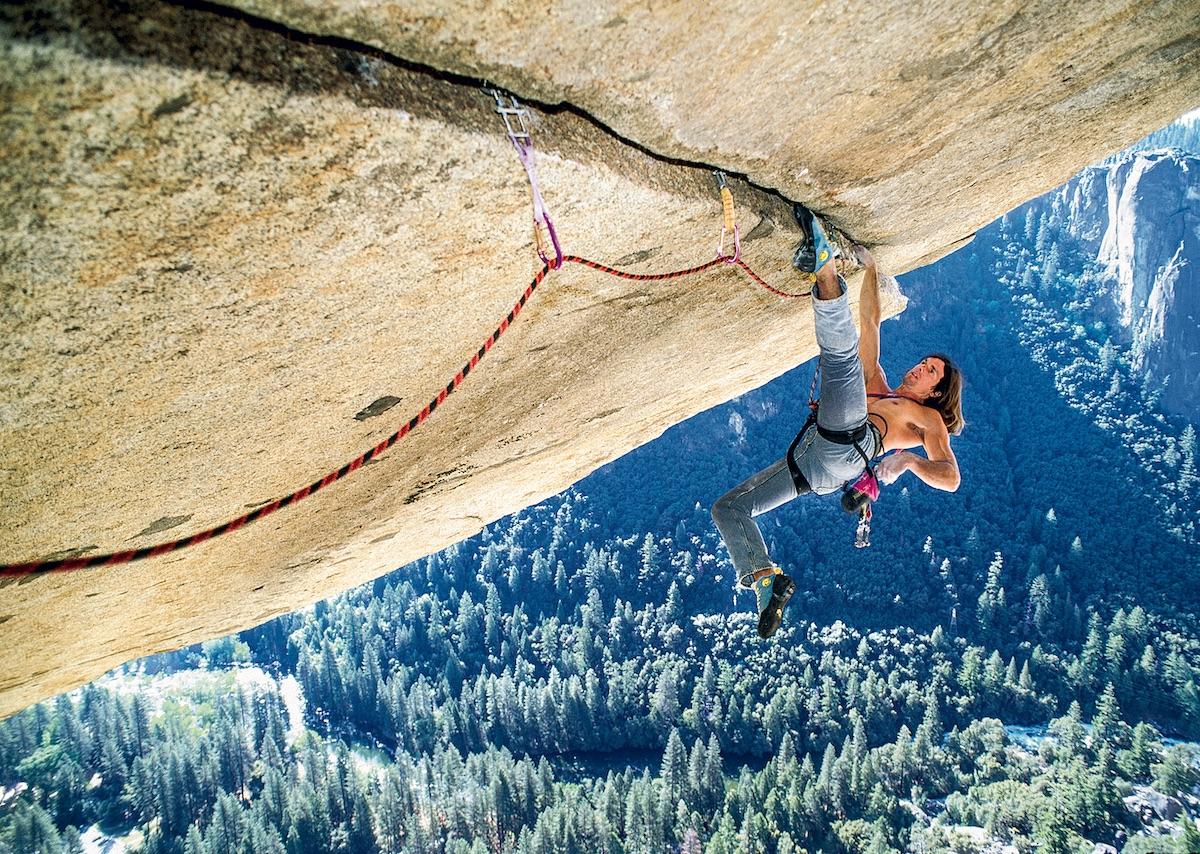 Ron Kauk climbs Separate Reality (5.12). [Photo] Heinz Zak