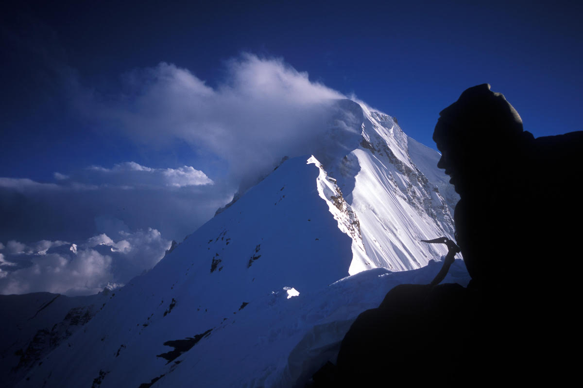 This photo shows a view of Peak 6477 from the South Ridge of Nanda Devi East / Sunanda Devi. [Photo] Pete Takeda