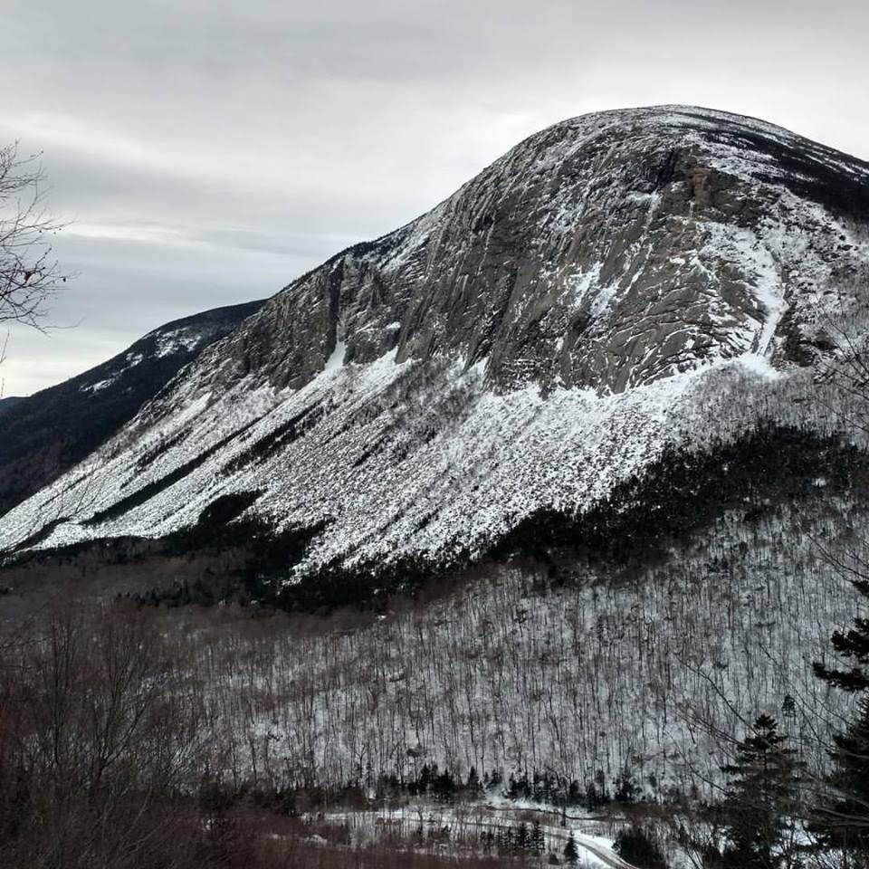 Cannon Cliff in winter. In a crag profile of Cannon Cliff for Alpinist 21, Freddie Wilkinson wrote, Welcome to New England's biggest wall, where 1,000 feet of rivalry, bad weather and exfoliating granite never felt so good. [Photo] Sarah Audsley