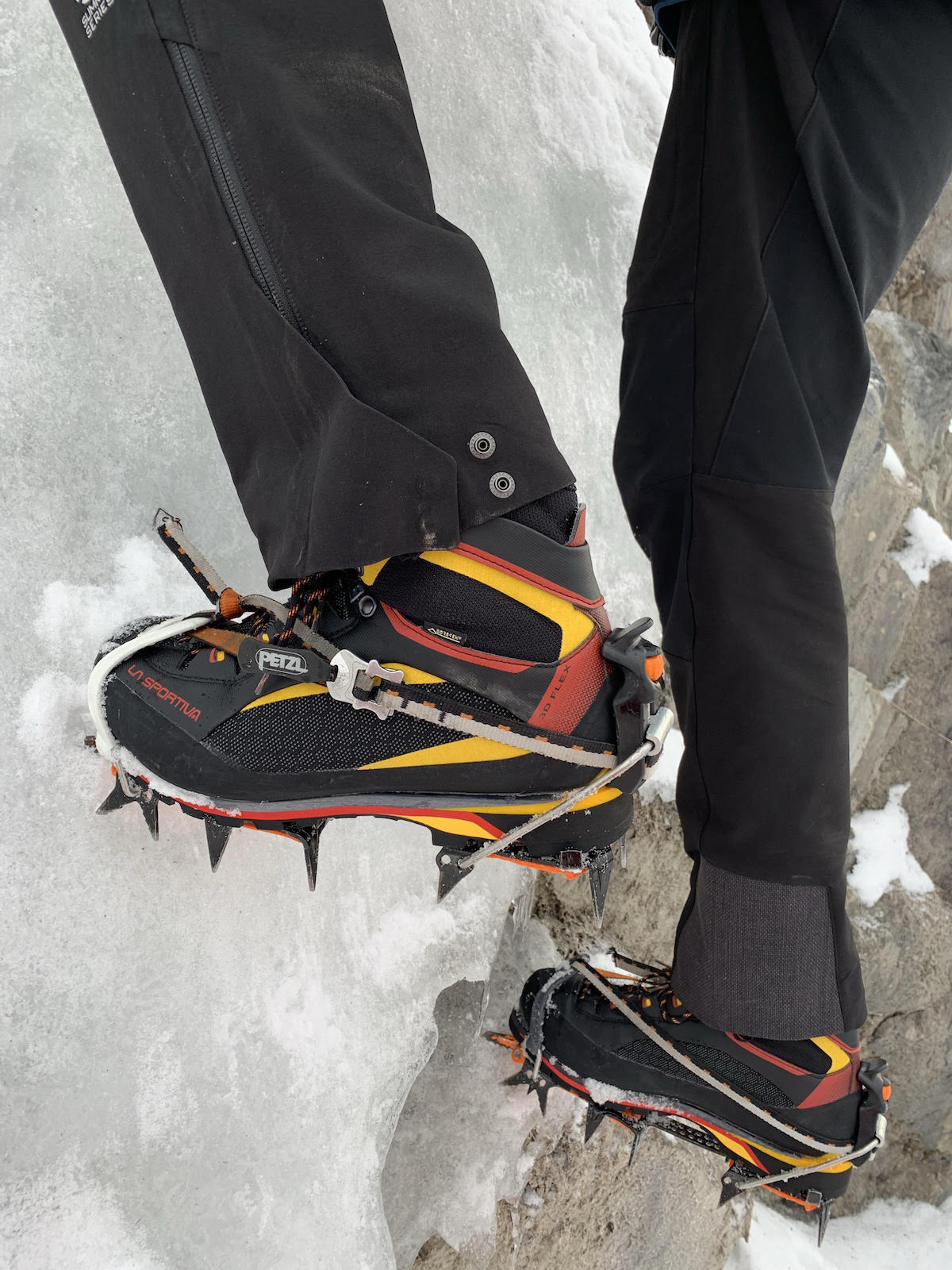 Close up of the La Sportiva Trango Tower Extreme boots in action. [Photo] John Giraldo