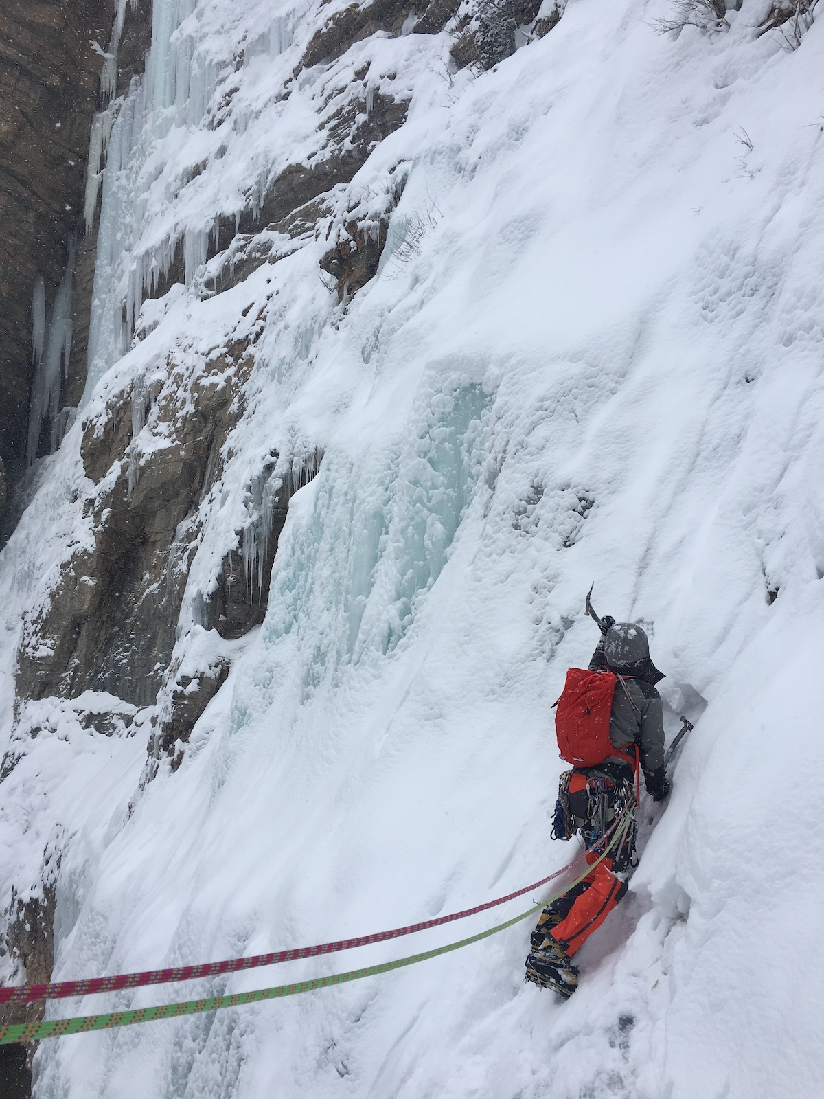 Franz leads Pitch 2 of Hidden Falls with the Mountain Equipment Tupilak 30. [Photo] Craig Helm
