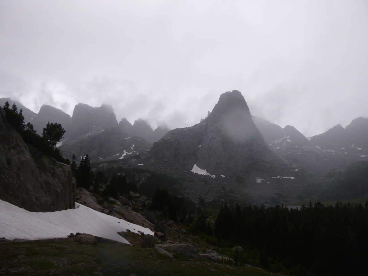 A storm settles over the Cirque of the Towers, Wind River Range, Wyoming. [Photo] Derek Franz