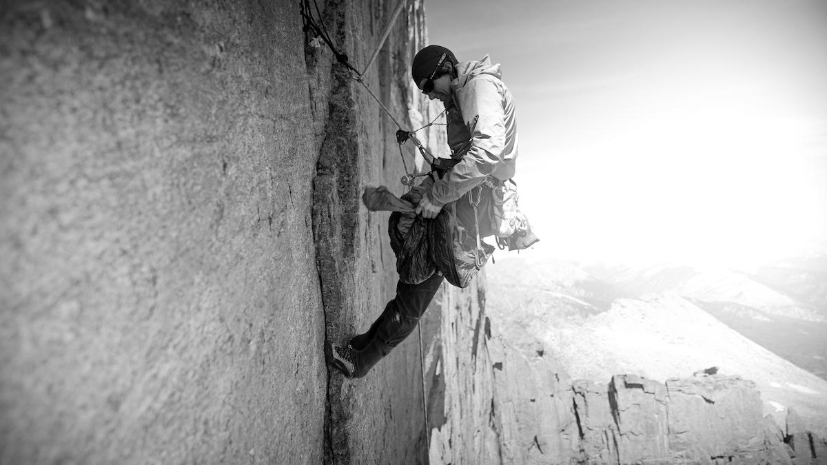 Madaleine Sorkin on the Diamond of Longs Peak. [Photo] Henna Taylor/Summer Taylor