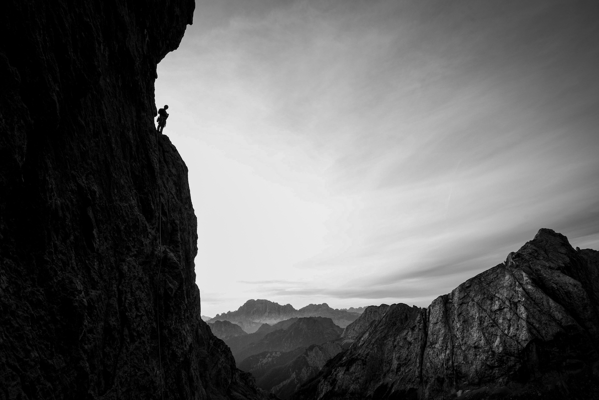 A climber in the Dolomites, Italy. [Photo] Henna Taylor/Summer Taylor