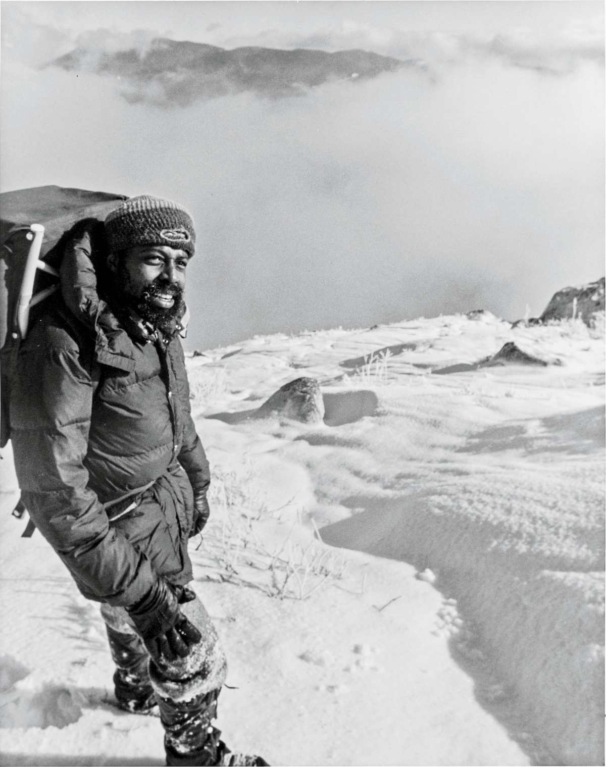 Ed Roberson on Mt. Washington (Agiocochook), New Hampshire, date unknown. [Photo] Courtesy Frank Daugherty
