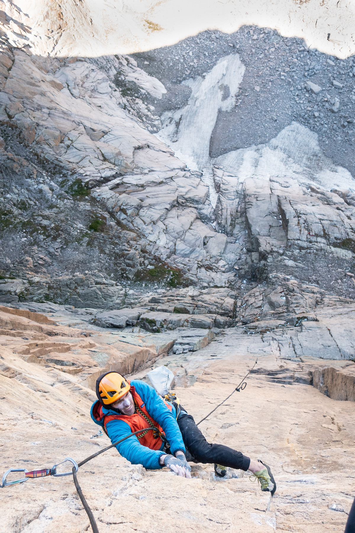 Miller toprope soloing on Gamblers Fallacy. [Photo] Chris Weidner
