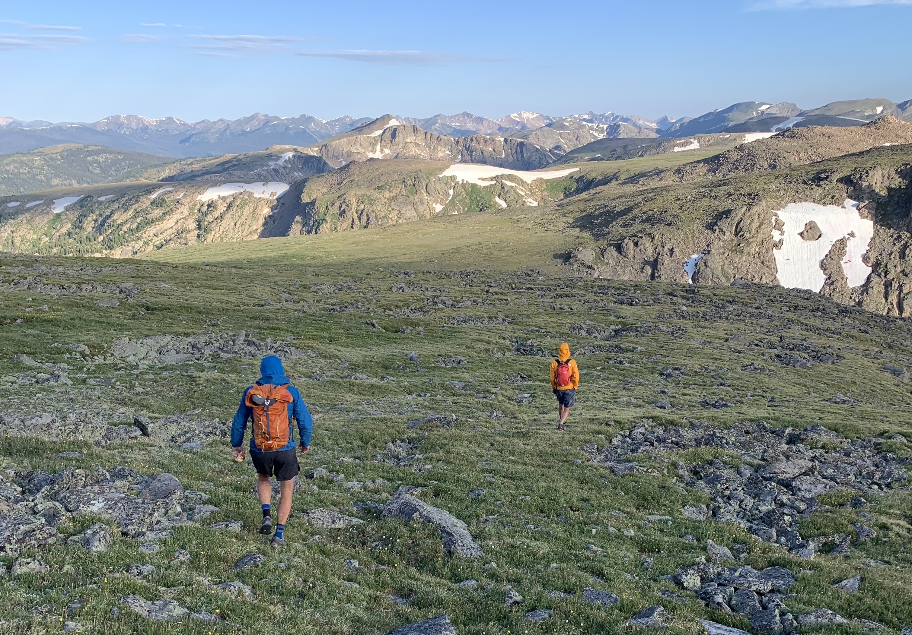 Caldwell and Honnold, still on the move in Rocky Mountain National Park. [Photo] Adam Stack