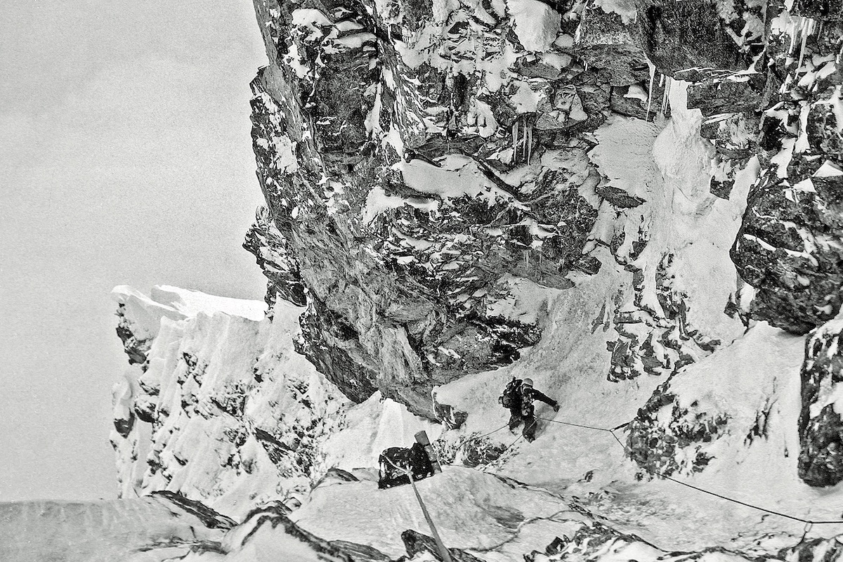 George Lowe on the Infinite Spur. [Photo] Michael Kennedy