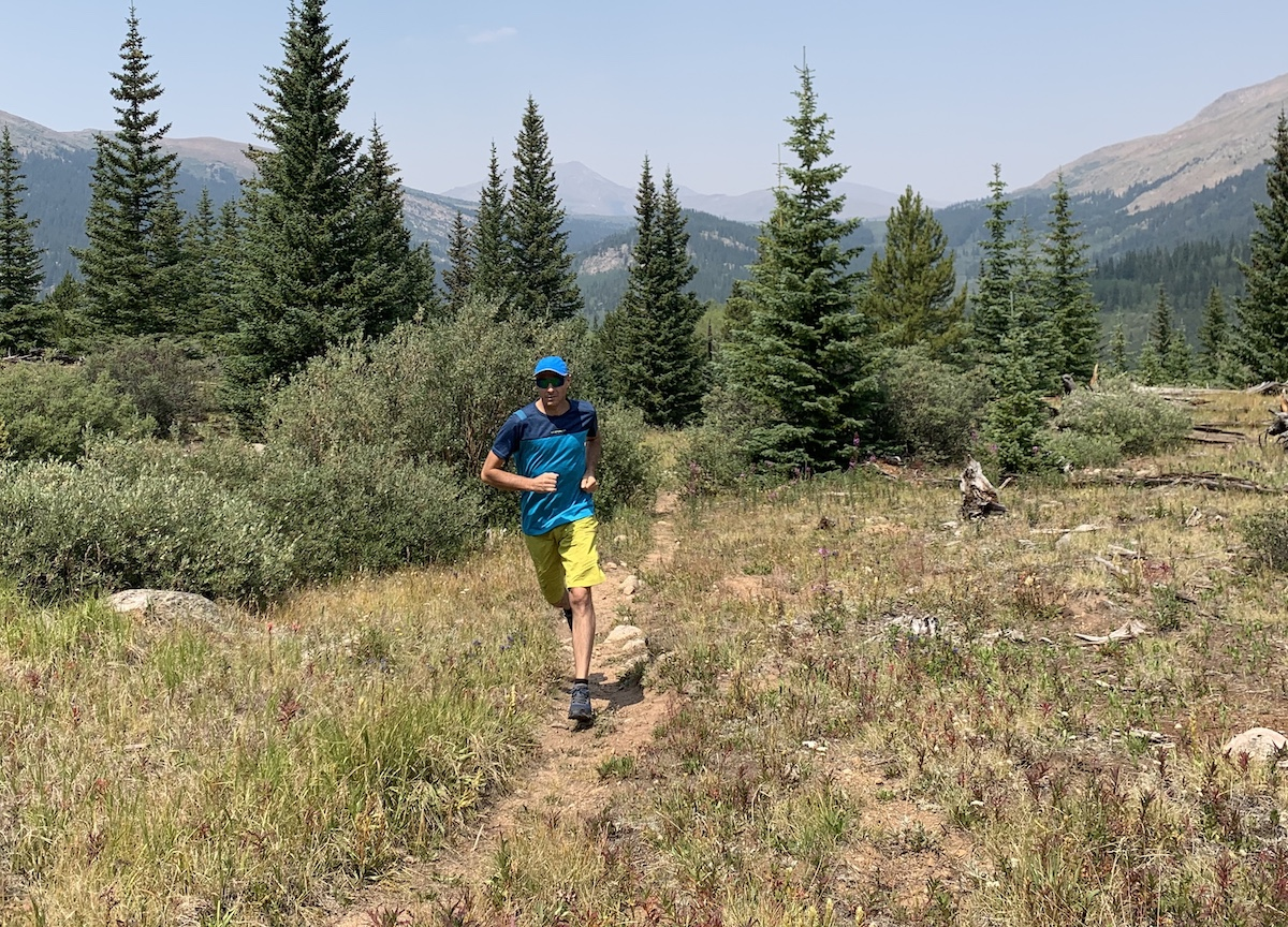 Lewis wears the Flash LL Ions on a trail run in the Mt. Evans Wilderness, Colorado. [Photo] Catherine Houston