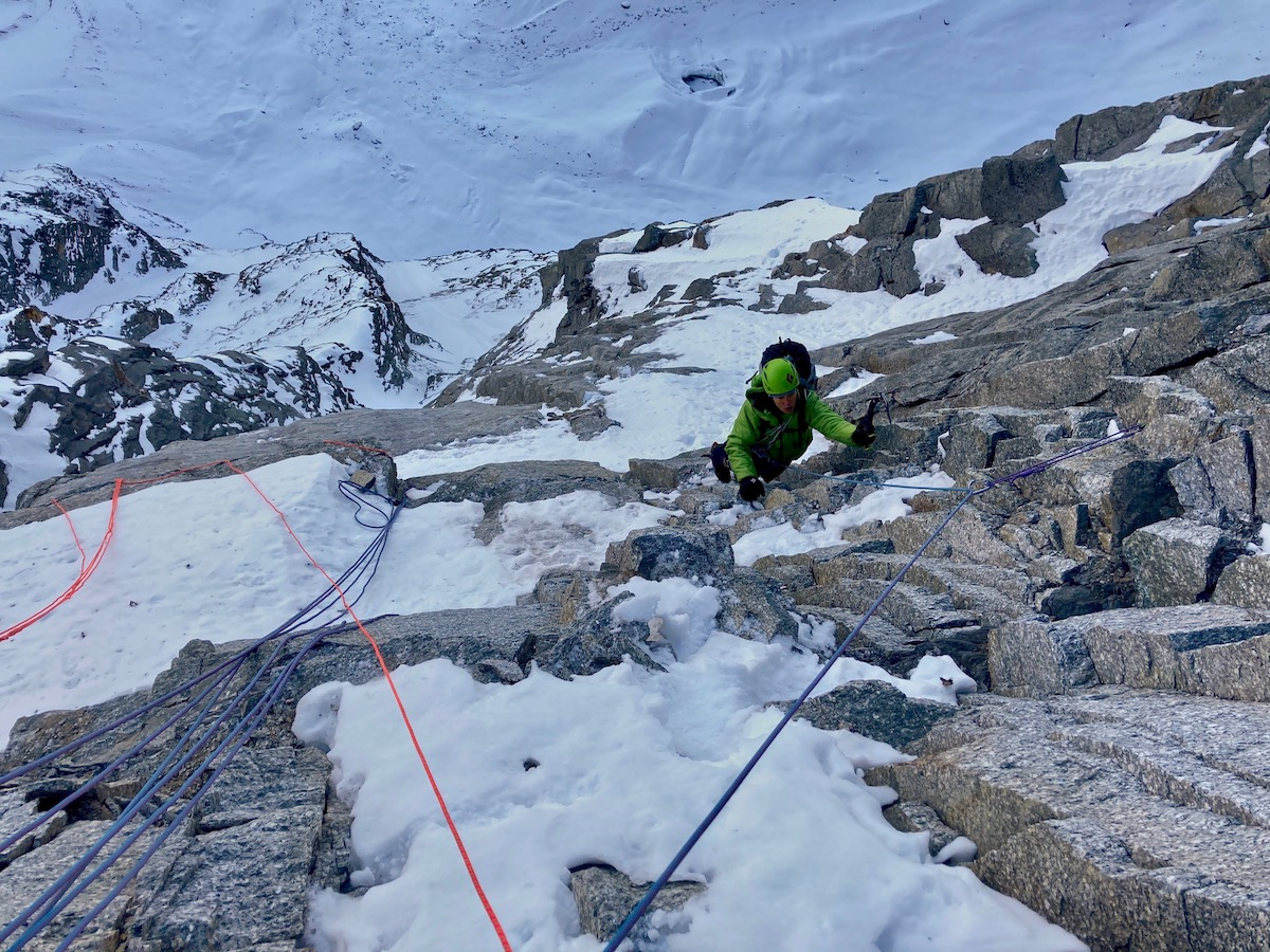 Papert on the route. [Photo] Luka Lindic