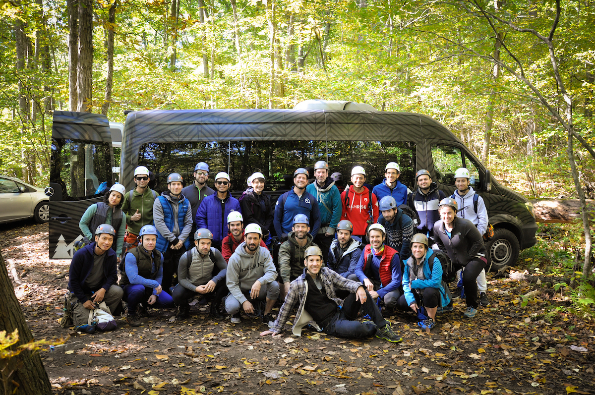 A Get Out And Trek (GOAT) climbing event in Kent, Connecticut. [Photo] Courtesy of GOAT