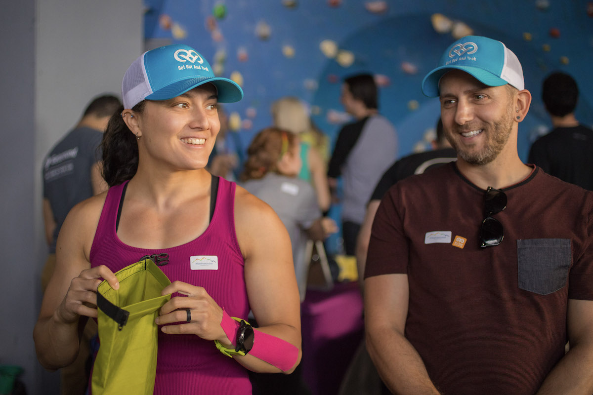 Get Out And Trek's ClimbOUT for Pride event in New York City, 2019. [Photo] Courtesy of GOAT