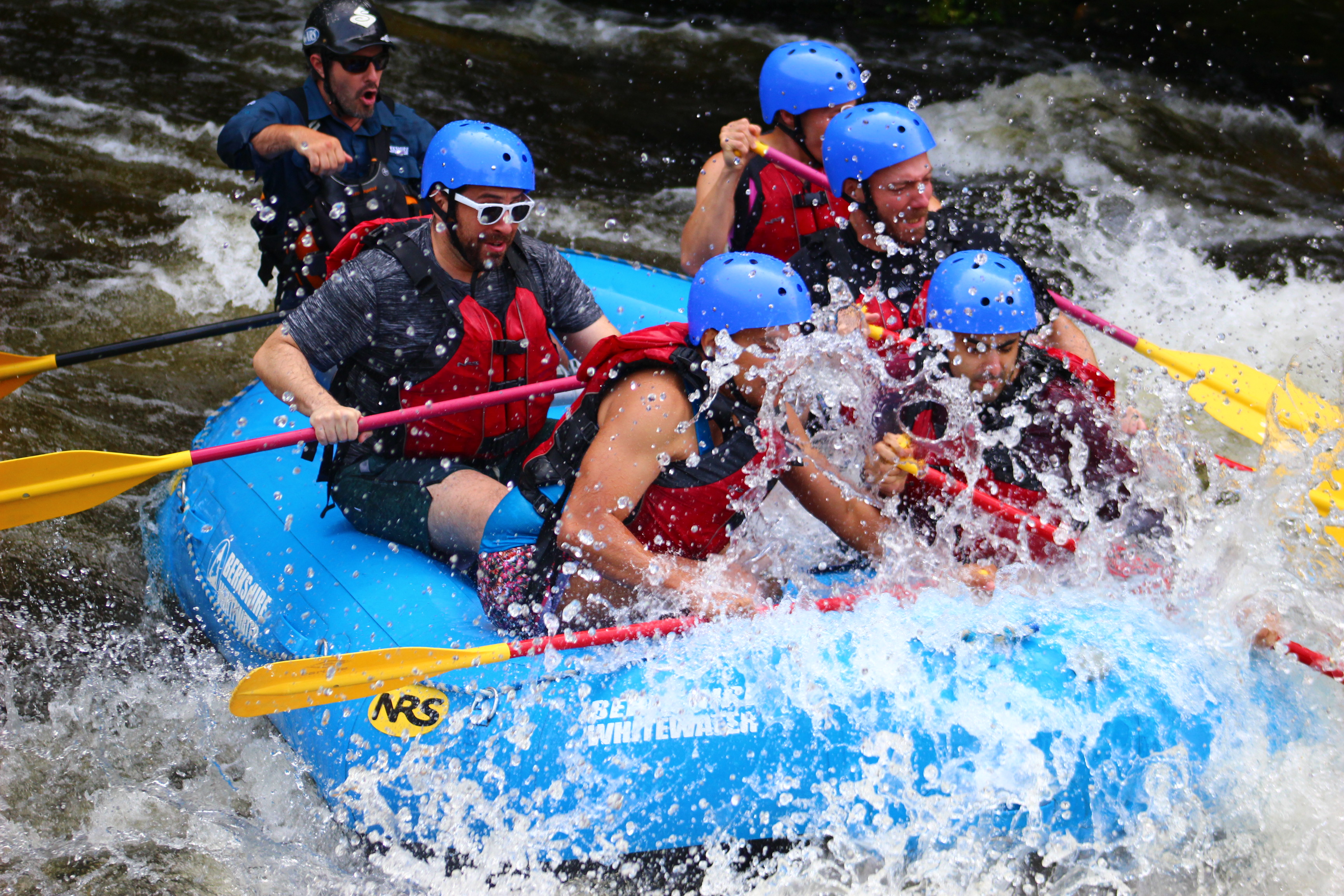 Get Out and Trek members rafting down the Deerfield River, Massachusetts. [Photo] Courtesy of GOAT