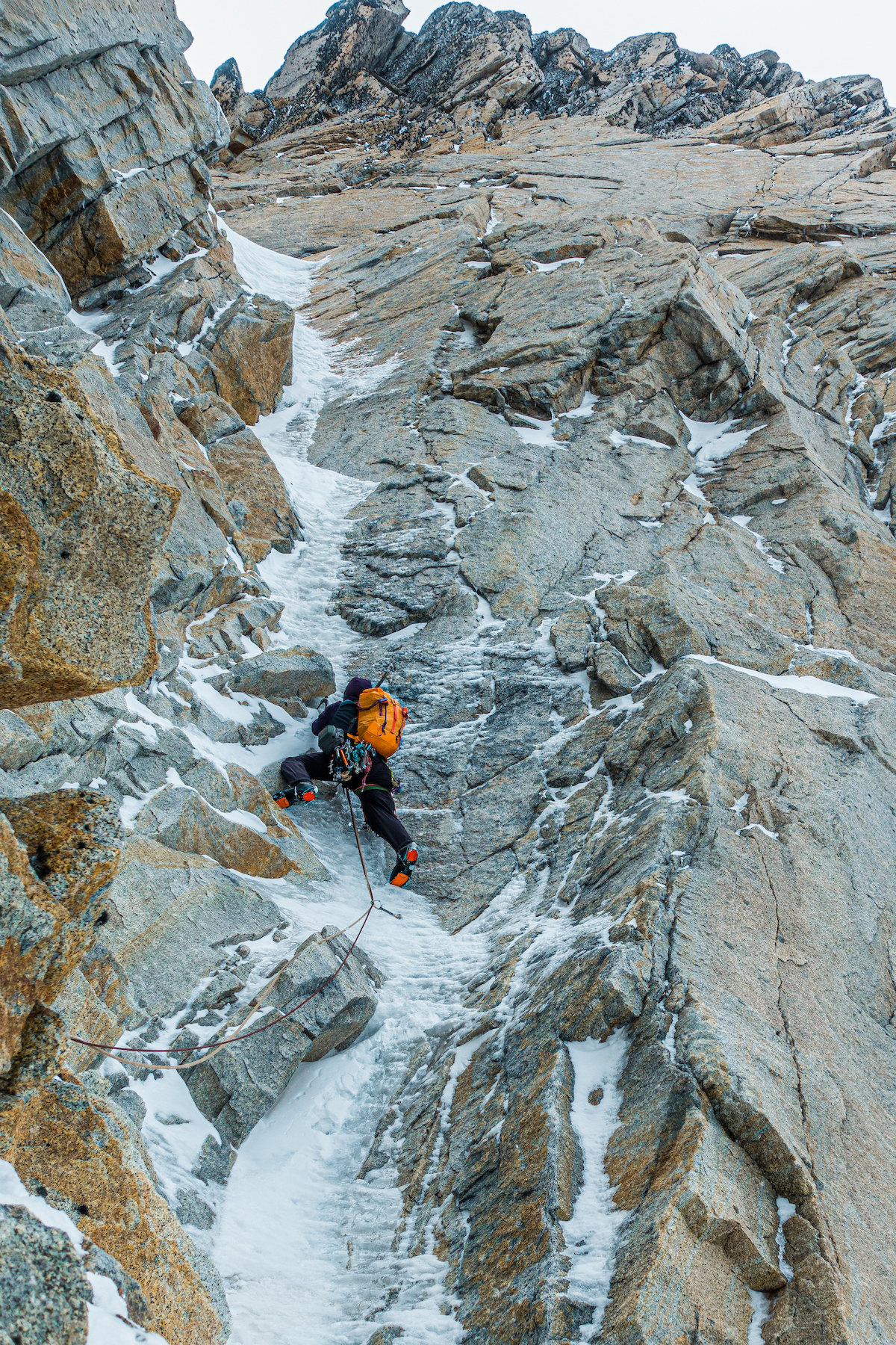 As an all-around ice tool, the Petzl Quarks are just as comfy and secure on steep and technical terrain as they are on easier slopes. McCrea on Super Domo. [Photo] Jon Griffin