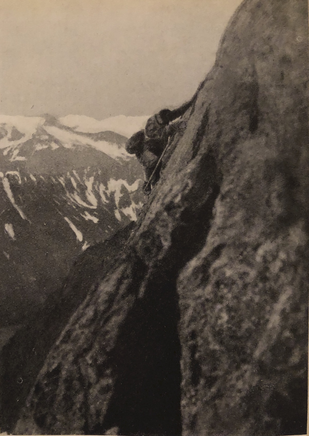 Ugo di Vallepiana on the first ascent, with Paul Preuss, of Pic Gamba on the Peuterey Ridge in 1913. [Photo] Paul Preuss / Courtesy David Smart