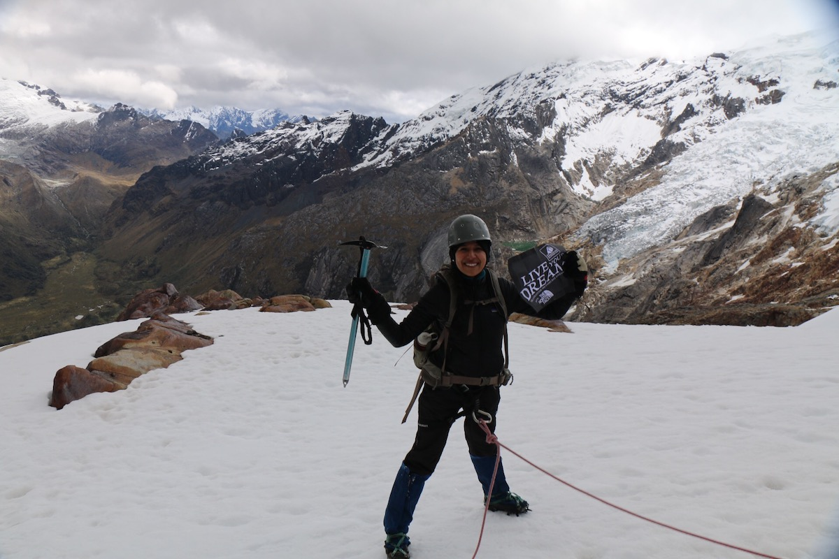 Anel Guel travelled to the Cordillera Blanca in Ancash, Peru, where she summited Mt. Pisco (5752m) in Huascaran National Park on June 19-20, 2018. [Photo] Anel Guel collection