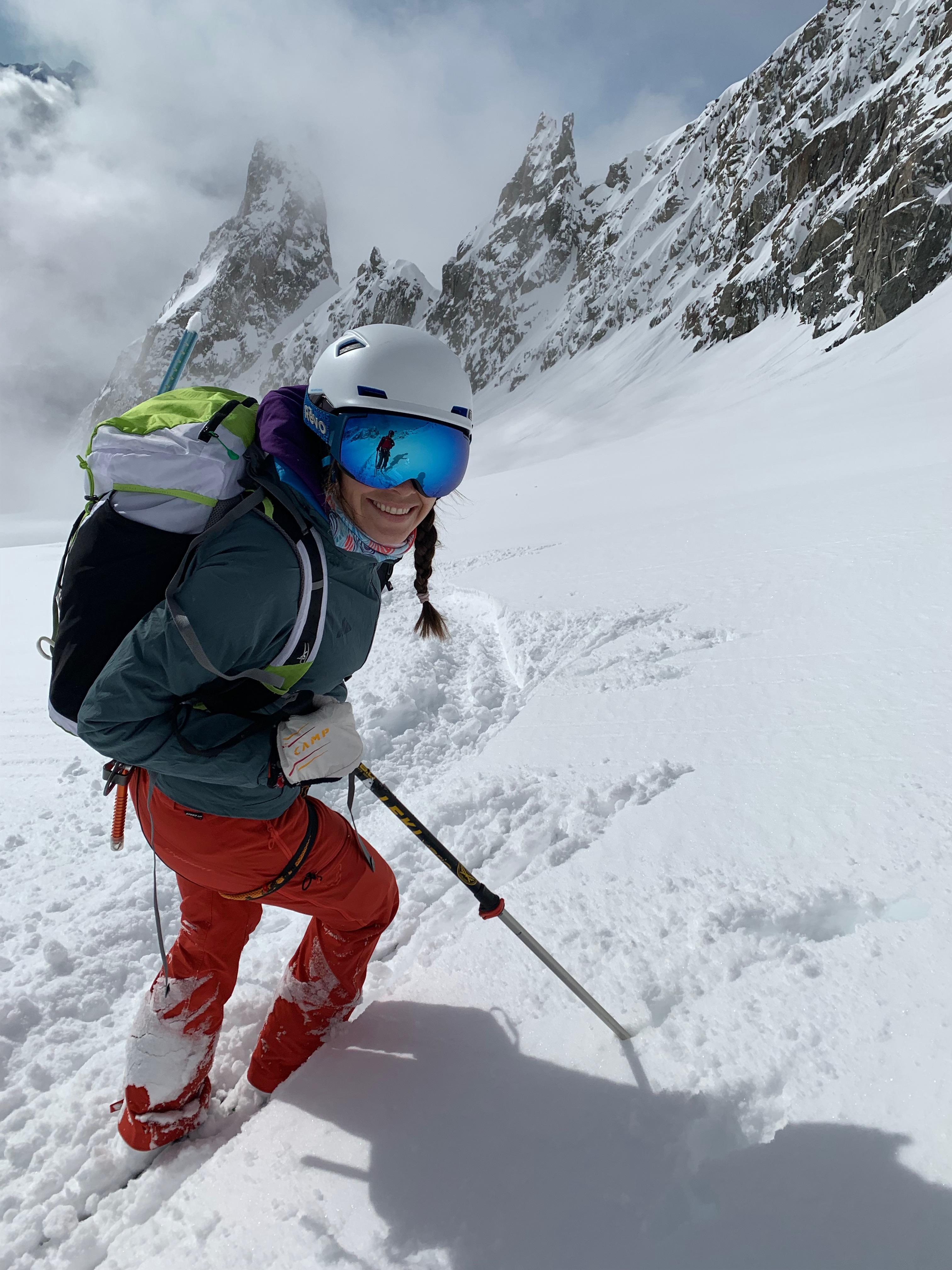 Weinhold skiing in Chamonix, France. Photo] Steve Denny