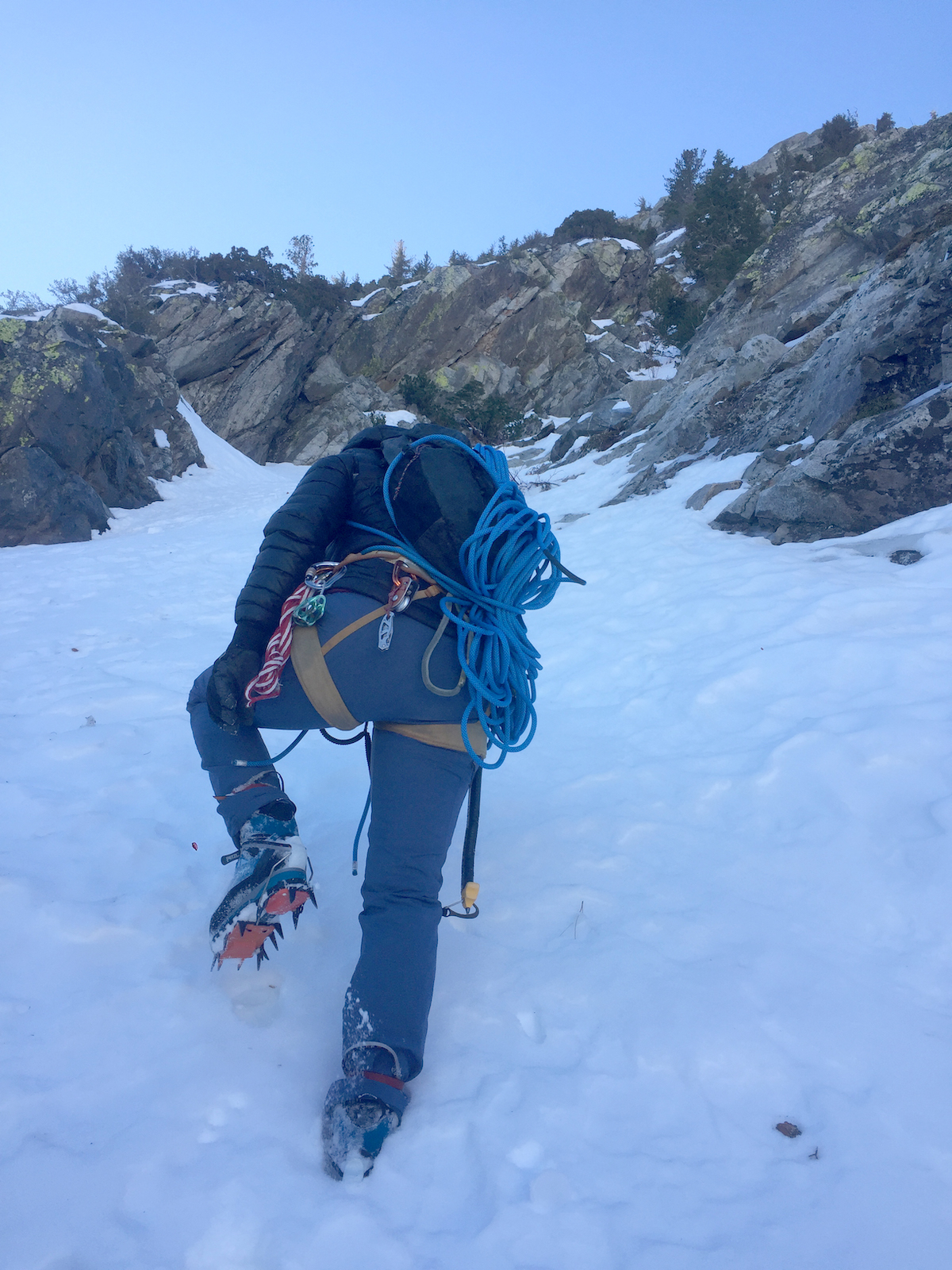Clark approaching the base of Carson Peak. [Photo] Tess Smith