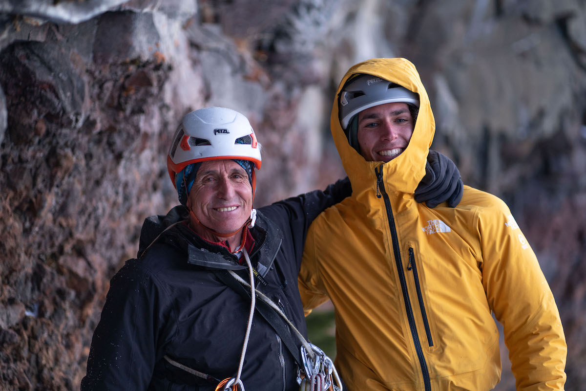 Cornell, right, with Martin Zabaleta, who is also an accomplished climber completed a new route on Kangchengjunga (8586m) with Carlos Buhler and Peter Habeler in 1988. [Photo] Austin Schmitz
