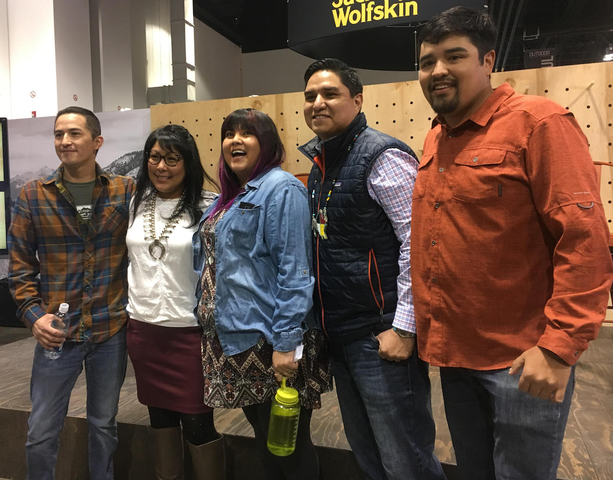 Speakers of a discussion panel titled Indigenous Connections: Re-envisioning Recreation and Public Land, which was took place at the 2018 Winter Outdoor Retailer. [Photo] Derek Franz