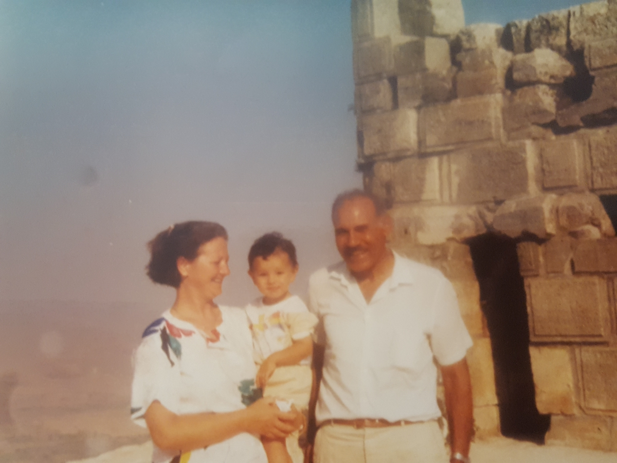 Massri with her parents, returning from a family holiday by the sea in Syria. She writes: From what we remember, the picture is by the Krac des Chevaliers fortress. I am about 2.5 years old. [Photo] Suzana EL Massri family collection