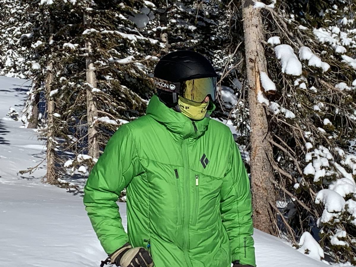 Lewis wears the Dragon Alliance PXV2 Snow Goggles on a sunny December day at Monarch Ski Mountain, Colorado. [Photo] Catherine Houston