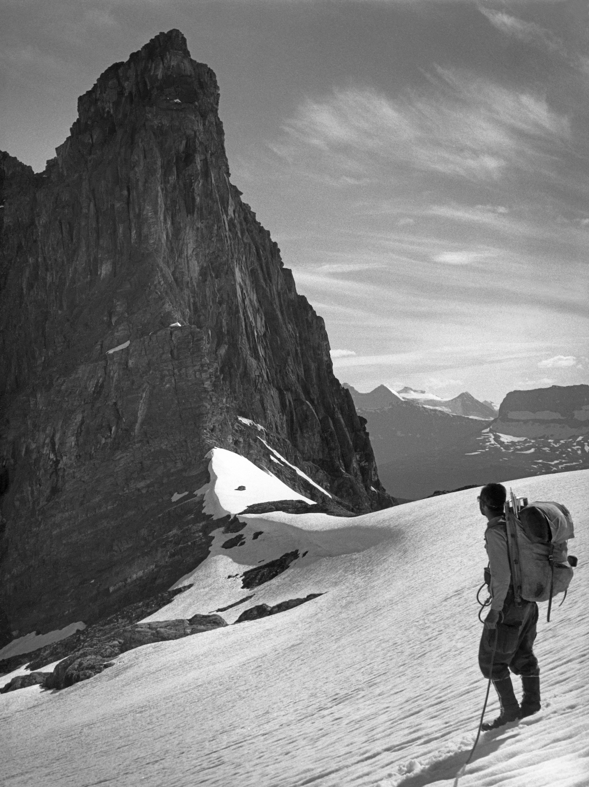 George Whitmore in the Canadian Rockies, 1962. [Photo] Ed Cooper