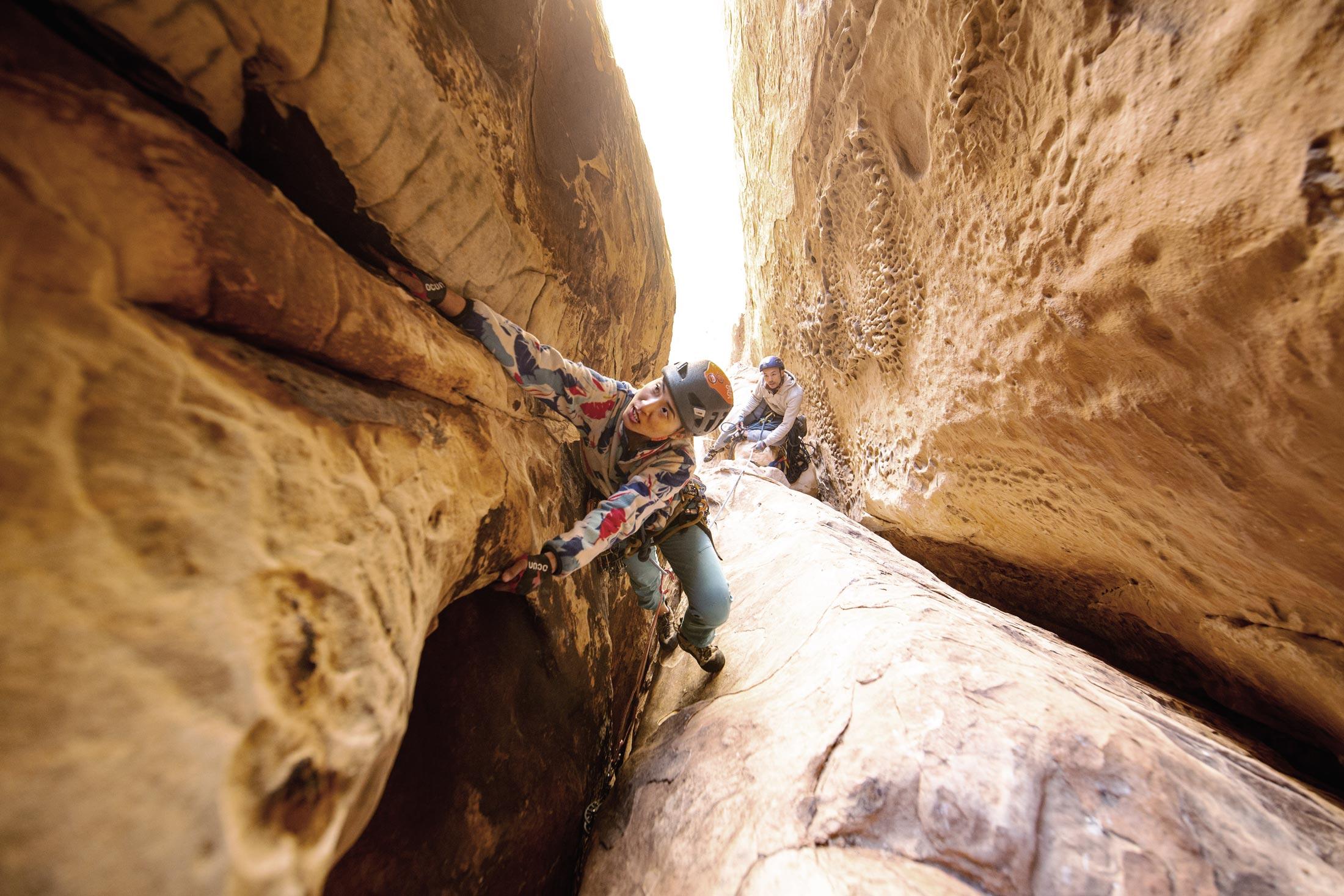 Julie Tsai in Red Rock Canyon.