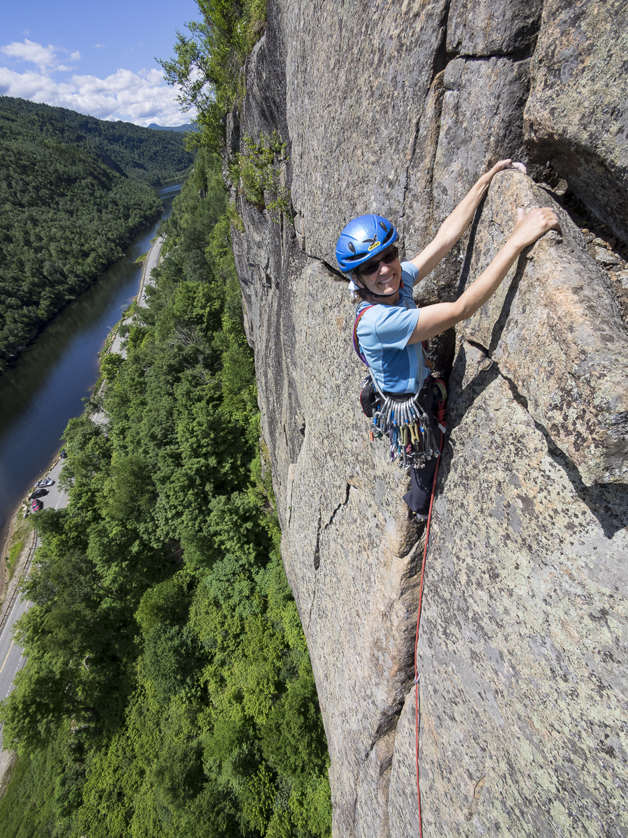 Stolz guiding on Cascade Pass, Adirondacks, 2014. [Photo] R.L. Stolz, Vertical Perspectives Photography