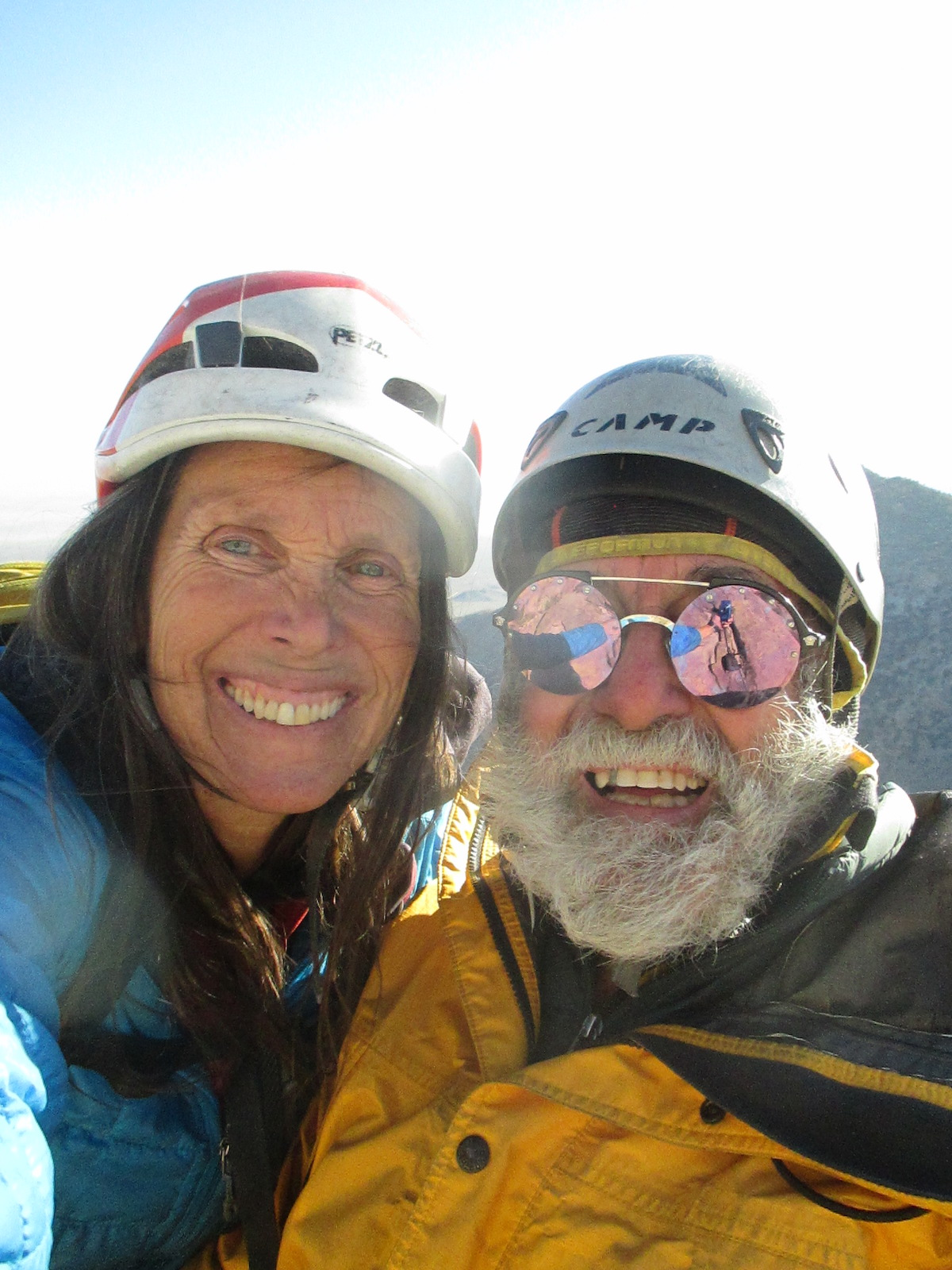 Joanne and Jorge Urioste after completing yet another first ascent, 2019. [Photo] Courtesy of the American Alpine Club