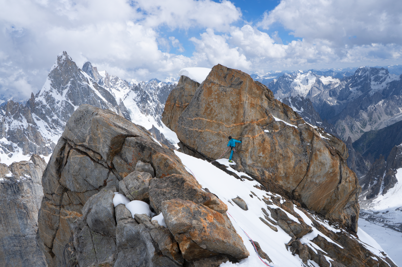 Jess Roskelley, a 2018 Cutting Edge Grant recipient, is pictured here on Baba Hussein (5800m), Pakistan. [Photo] Kurt Ross