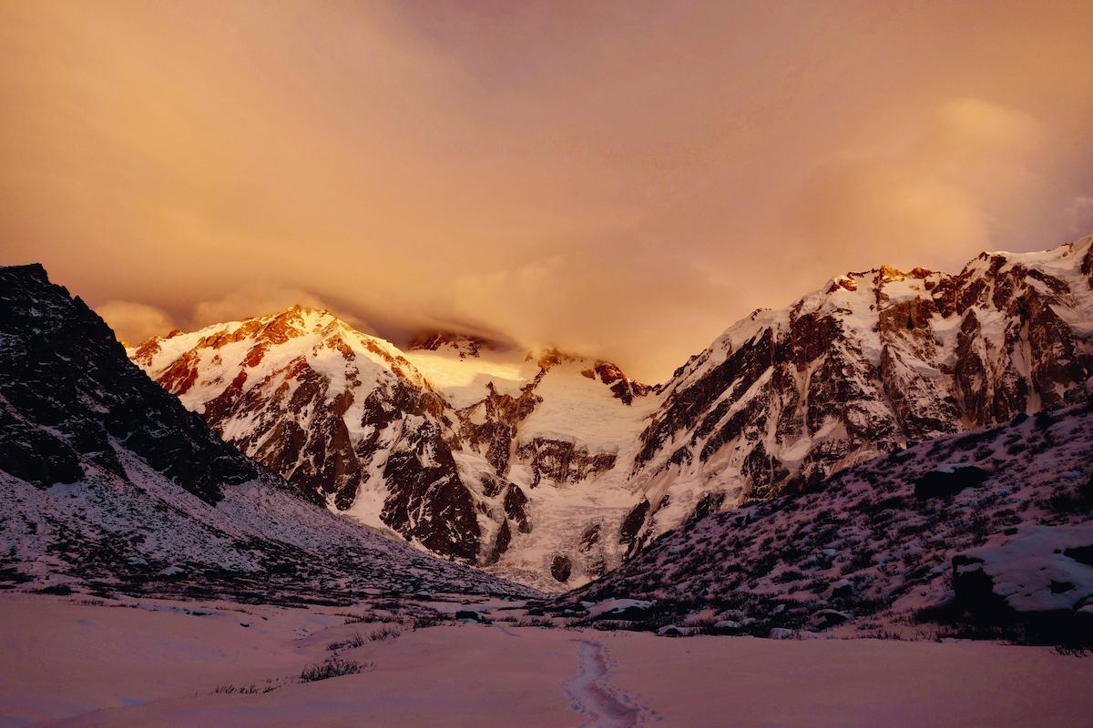 Sunset on Nanga Parbat. [Photo] Courtesy Vertebrate Publishing