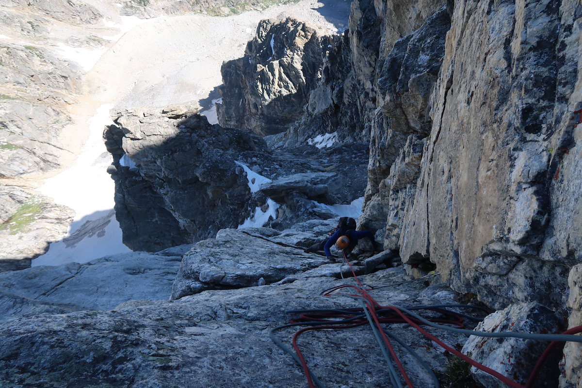 Jenkins on Pitch 13 (5.9). [Photo] Justin Bowen