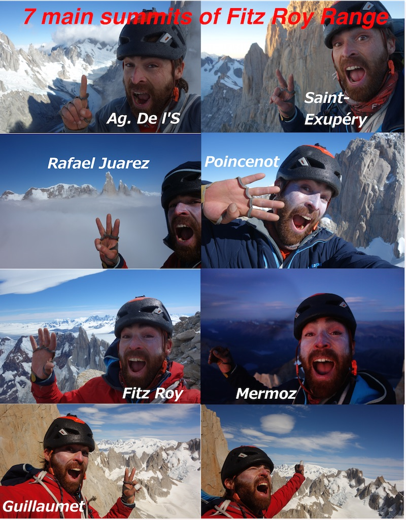 A compilation of O'Driscoll on top of the seven main summits. [Photo] Sean Villanueva O'Driscoll